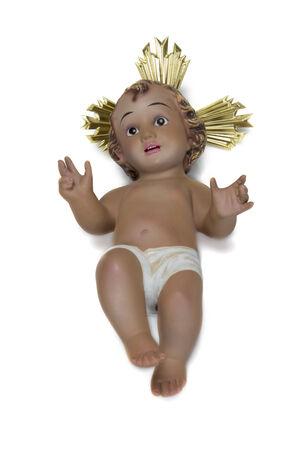 child jesus: Child Jesus image isolated on a white background