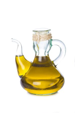 extra virgin olive oil: Extra virgin olive oil bottle isolated on a white backgroun