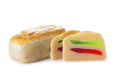 Premium traditional marzipan a food for christmas desserts  Banque d'images