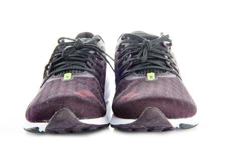Avila, Spain, February, 19, 2019. Product shoot of Nike air zoom vomero 14 running shoes isolated on white background Редакционное