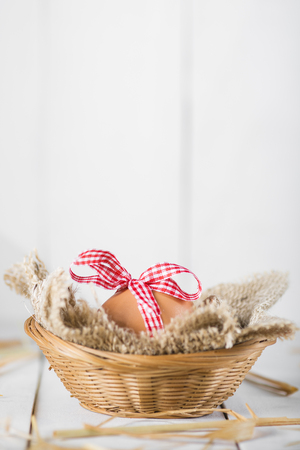 Easter eggs decorated in vintage style