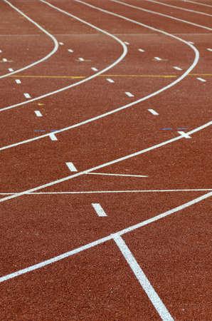 Running tracks around stadium