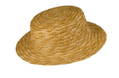 Straw hat on white background Stock Photo