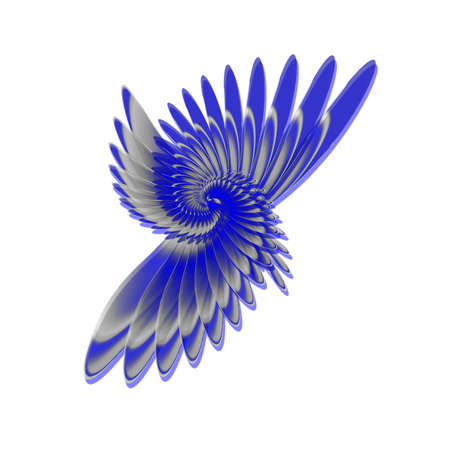 visual art: spiral feathers logo like a wing
