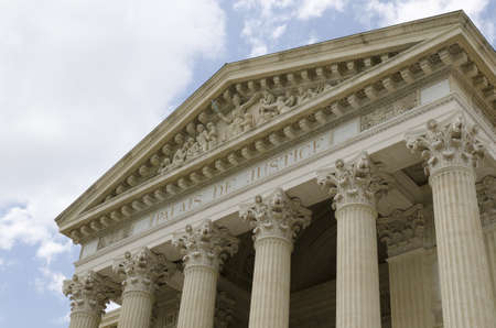 justice court: old courthouse of N�mes in France Stock Photo