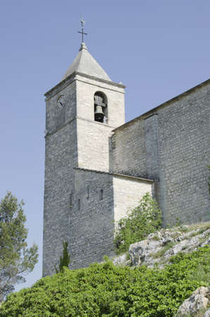 old church steeple in south of France Stock Photo