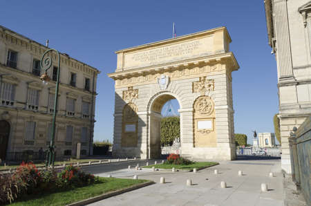 triumphal arch, Montpellier, France, Europe