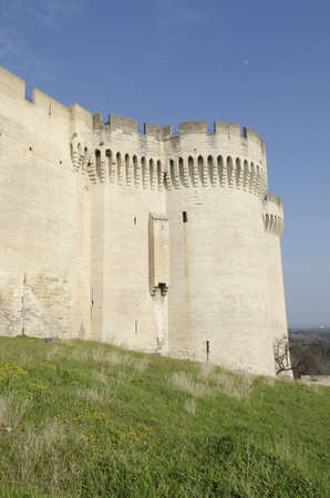 medieval castle in Villeneuve lez Avignon, France