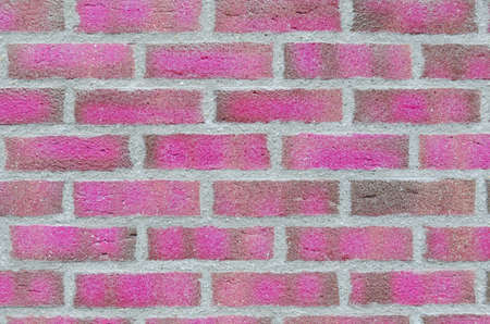 pink brick wall background Stock Photo - 12408040