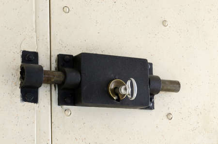prison door lock Stock Photo
