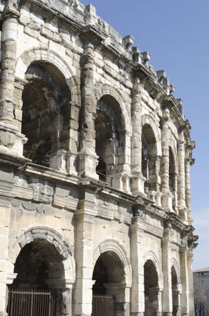 arena of Nimes, roman remains in France