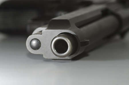 closeup of a gun barrel