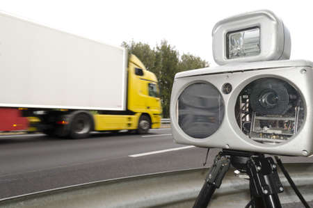 speed camera and truck photo