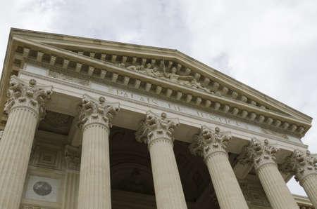 derecho penal: Palacio de Justicia Foto de archivo