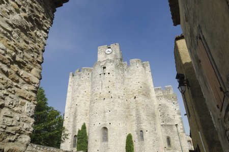 arbres: medieval church in France