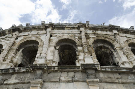 ancient arenas of Nimes, roman remains in France