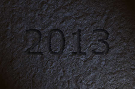 2013 engraved on the stone Stock Photo - 15603333