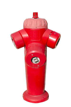 fire fighting equipment: red fire hydrant isolated on white background