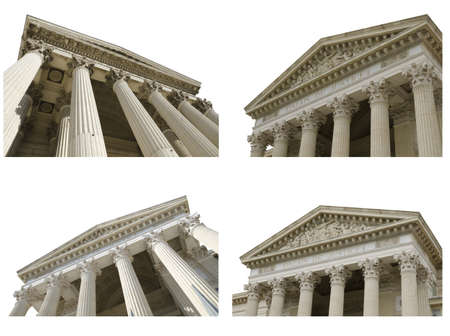 courthouses collage on a white background Editorial