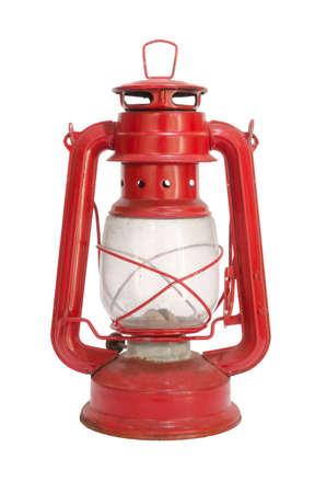Old red lantern isolated on white background Reklamní fotografie