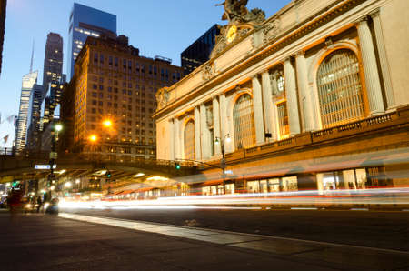 Grand Central Terminal station by night, New-York City, USA