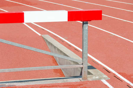 sports athletics barrier around stadium