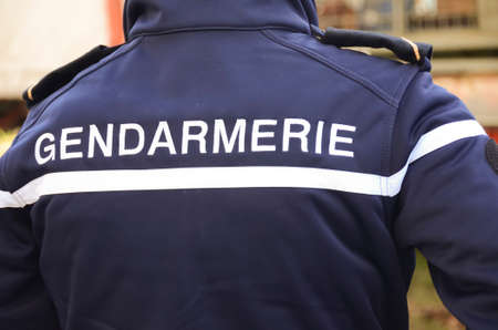 gendarme, french policeman uniform Stock Photo