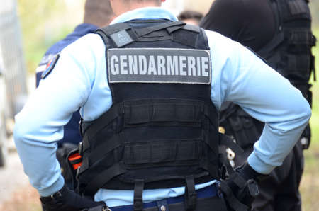 gendarme, intervention uniform of a  french policeman