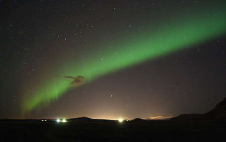 The northern lights in September from Iceland.
