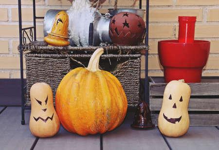 Halloween still life. Stockfoto