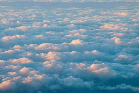 Sea of ?? clouds captured from an airplane. 스톡 콘텐츠