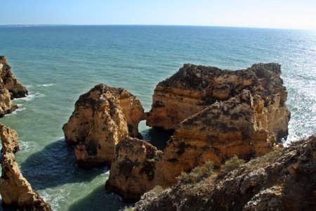 Cliffs of the coastline of Lagos;