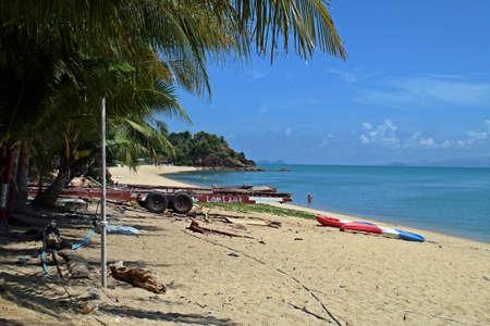 Na Phra Lan beach in the island of Koh Samui in Thailand.