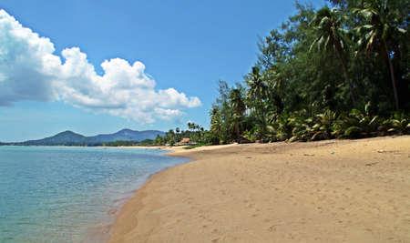 Na Phra Lan beach. Tropical beach. A paradise in the island of Koh Samui in Thailand. 免版税图像