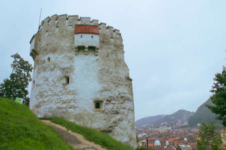 The White Tower (in Romanian, Turnul alb), ancient defensive tower in Brasov, Romania.