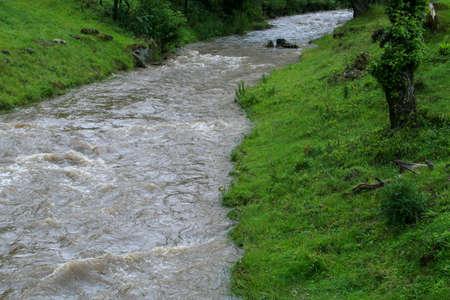 The Turcul river (English: Turkish river) next to Bran Castle in Romania.