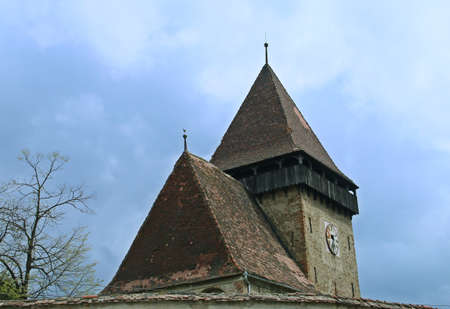 Roof of the fortified Evangelical Church (in Romanian: Biserica fortificata evanghelica) by Axente Sever (Sibiu, Romania).