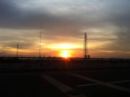 super highway: Beautiful sunset taken from the highway in Jakarta capital of Indonesia