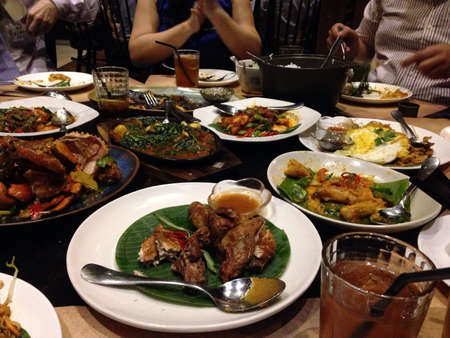 indonesian food: Dinner with Indonesian food
