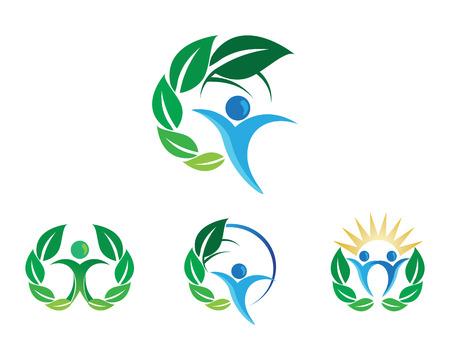 Diseño de logotipo de vector de hoja de árbol, concepto ecológico.
