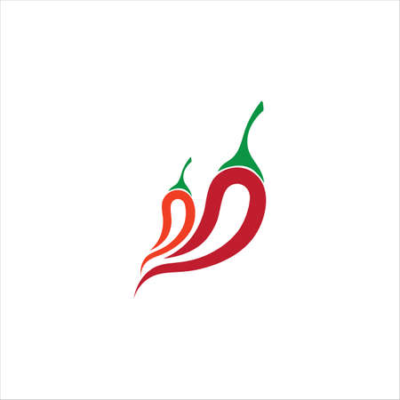 Red hot natural chili icon Template vector Illustration Vector Illustration