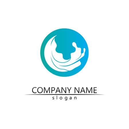 Water drop Logo Template vector illustration design Logó