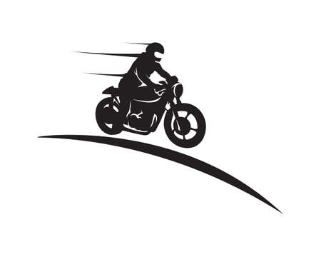 Rider vector and classic motor Bikers