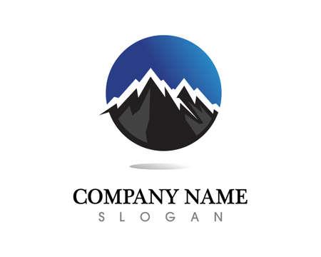 Mountain nature landscape  symbols  icons template