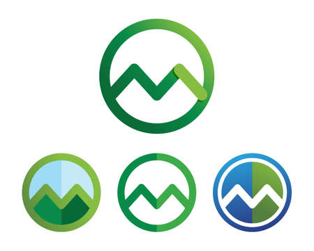 Mountain nature landscape   symbols  icons template Illustration