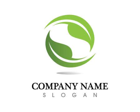 leaf vector   design, eco-friendly concept.