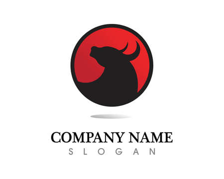 Bull horn and symbols template icons app Vettoriali