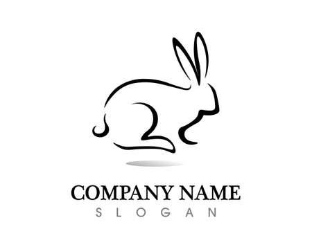 Rabbit template vector icon design Vetores