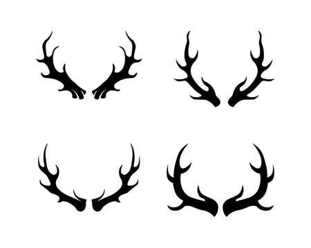 animal antler and deer vector design Vector Illustratie