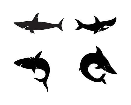 Shark Logo Template and design vector fish wild sea animal